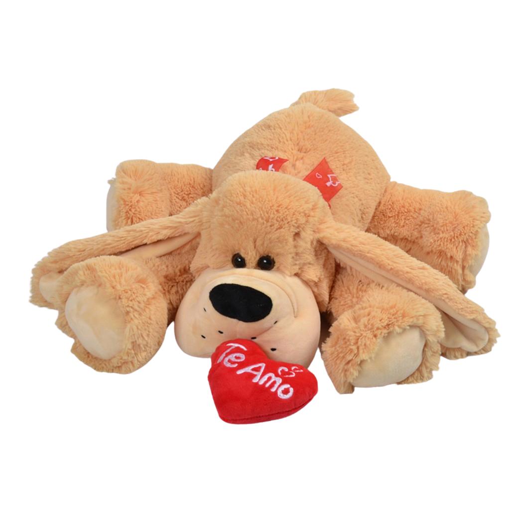 Perro De Peluche  acostado con corazon