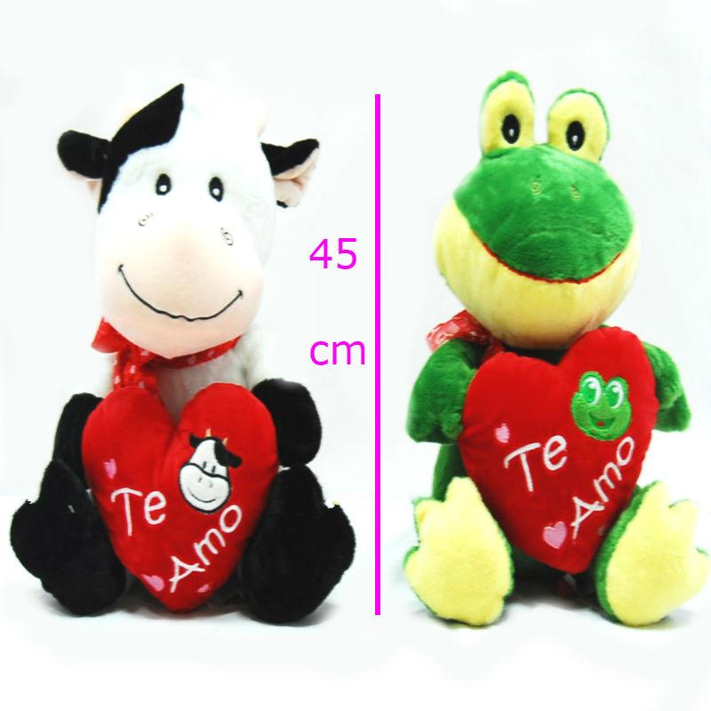 Vaca y rana con corazón