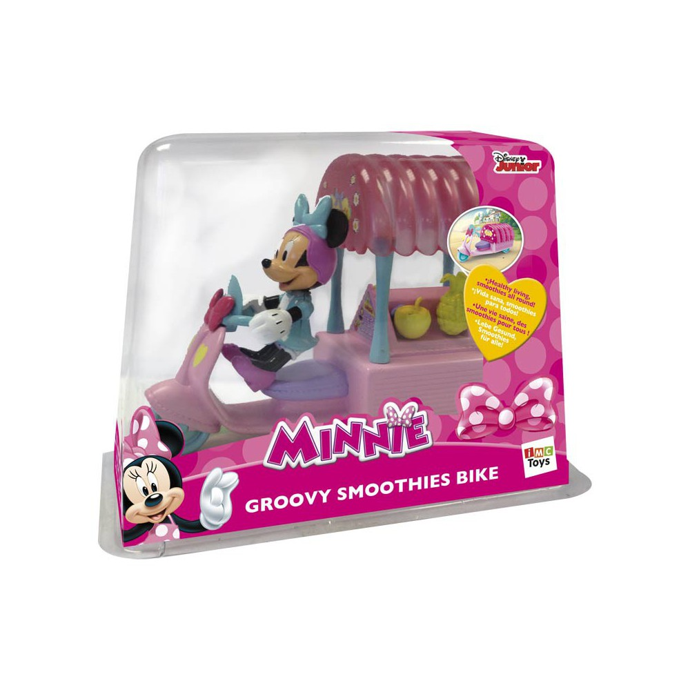 Bicicleta Minnie con figura y accesorios