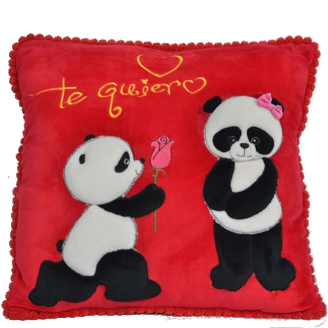 Almohadon Panda TE QUIERO