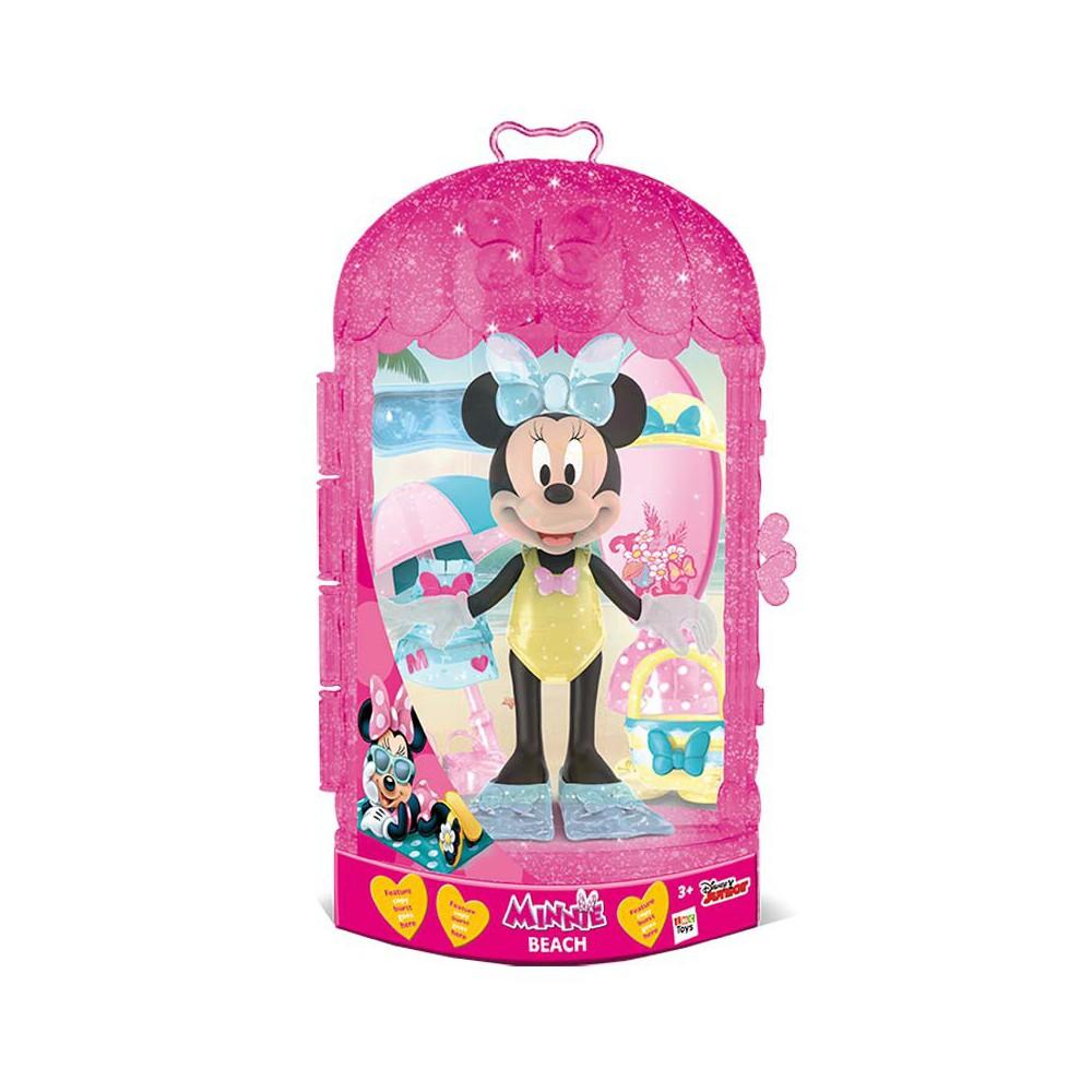 Minnie figura con accesorios - 3 surtidos: Playa - Princesa - Vamos de Shopping