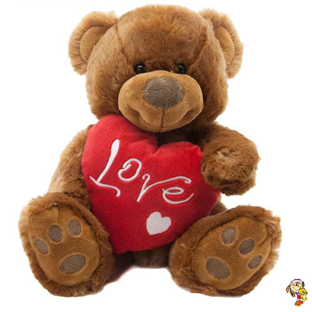 Oso con corazón LOVE 35 cm sentado
