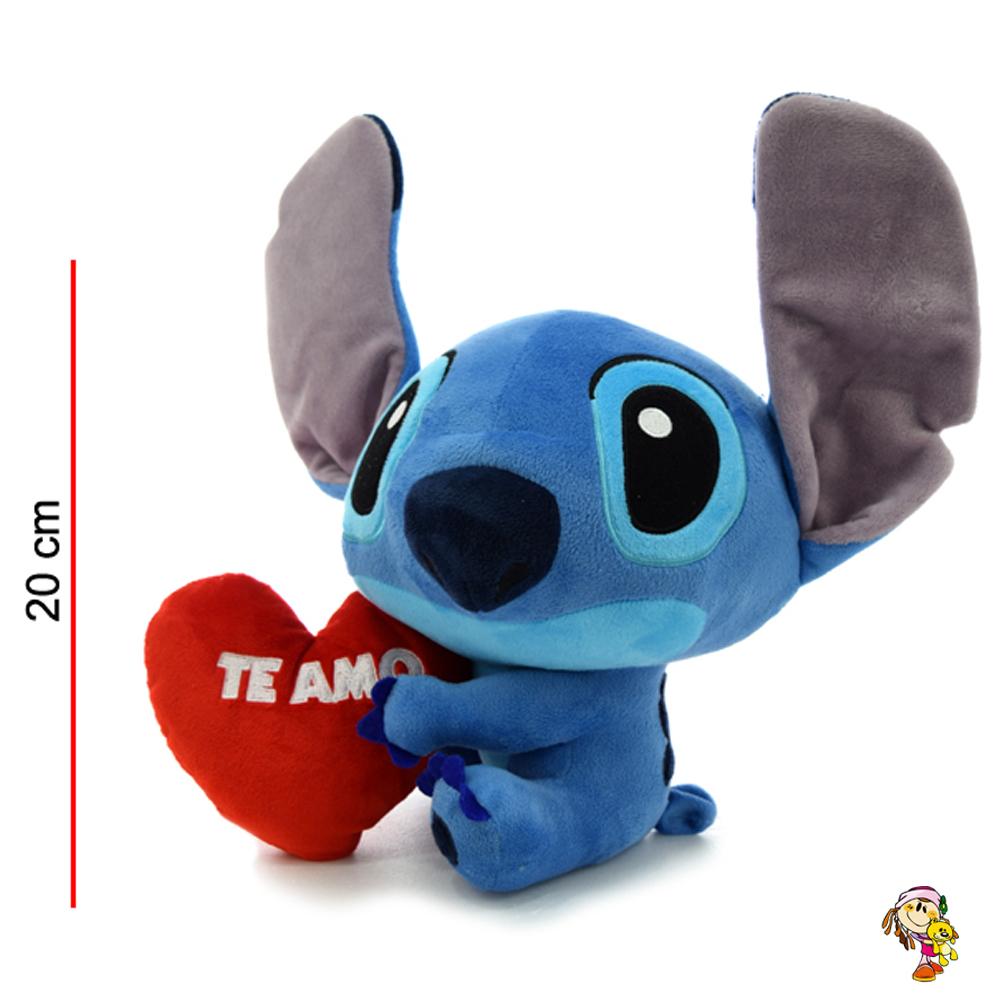 Stitch de peluche original sentado con corazón 20CM