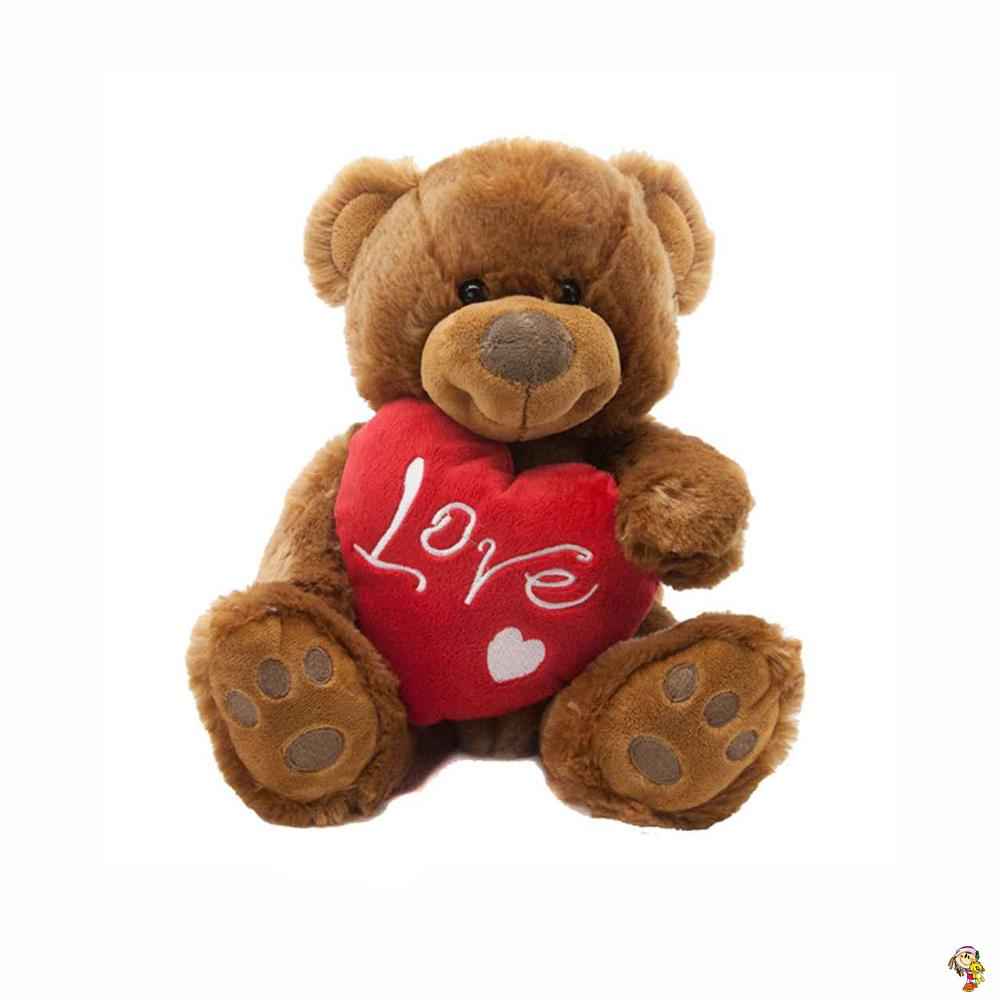 Oso con corazón LOVE 24 cm sentado