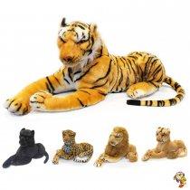 León, tigre y leopardo con sonido 45 CM