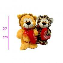 Tigre, león y leopardo con corazón  y sonido