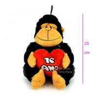Gorila con corazón  TE AMO