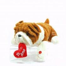 Perro Bulldog c/ corazón y sonido