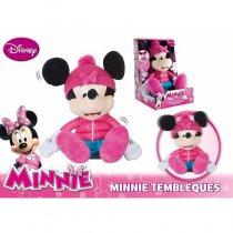 Peluche Minnie tiene frío y tiembla con sonidos