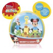 2 figuras en blister con accs. - Mickey y Goofy