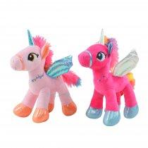 Unicornio dos Colores con Alas 23 cm alto