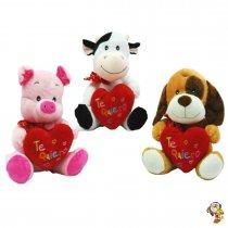 Animales con Corazón bordado