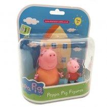 Peppa figuras x 2 unidades con Papa y mama
