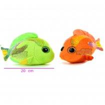 Pescado De Peluche Ojos Tipo Ty 3 Colores