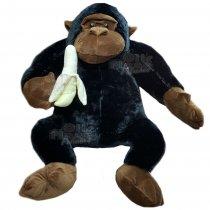 Gorila De Peluche Con Banana Gigante 70 cm sentado