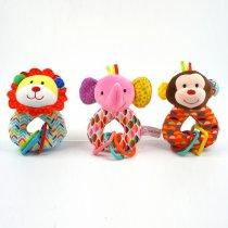 Sonajero leon, elefante y mono