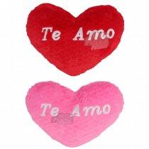 Corazón Grande Bordado TE AMO 60 cm.