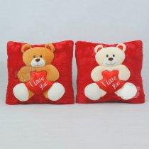 Almohada Con oso y Bordado I LOVE YOU