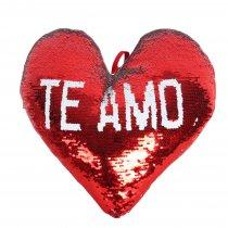 Corazón Mágico reversible TE AMO Lentejuelas