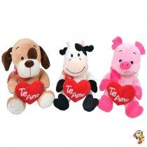 Animales con Corazón bordado TE AMO