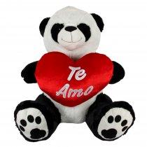 Oso Panda con Corazón 90 cm sentado
