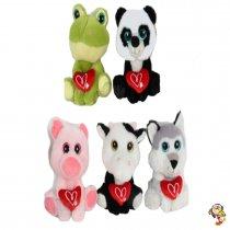 Animales con Corazón bordado TE AMO Ojos TY