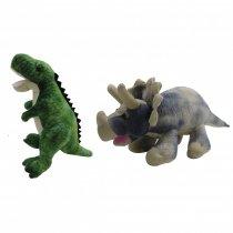Dinosaurio Rex y Triceratops Grande