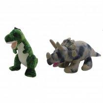 Dinosaurio Rex y Triceratops Mediano