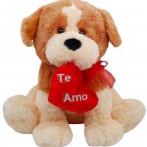 Perro con Corazón Bordado TE AMO con Sonido