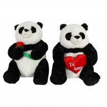Panda con Flor o Corazón 48 cm Sentado