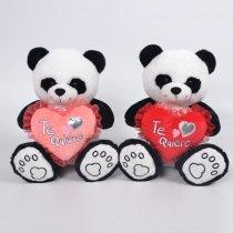 Panda con Corazón Bordado TE AMO