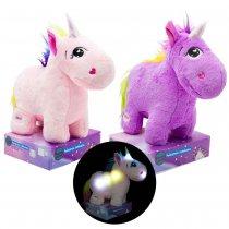 Unicornio de peluche con luz