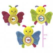 Sonajero mariposa con mini Ábaco