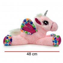 Peluche Unicornio Con Alas Estampadas 48 cm