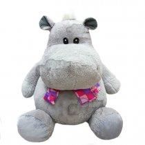 Hipopótamo de peluche grande 60 cm sentado
