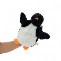 Títere Pinguino de peluche 2 colores 22 cm