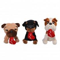 Peluche Perro Varios Modelos con Corazón 25 cm