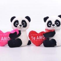 Peluche Panda Con Corazón Ojos Simyl Ty 23 cm