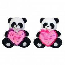 Peluche Panda Con Corazón Grande 45 cm Sentado