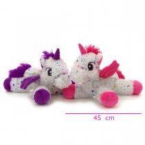 Peluche unicornio con alas y estrellas 45 cm largo