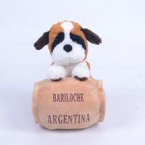 Perro San Bernardo Con Barril De Peluche