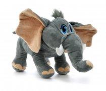 Elefante De Peluche Ojos Bordados 38 cm largo