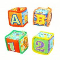 Cubo sonajero números y letras