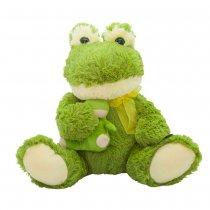 Rana de peluche con bebe 36 cm sentado