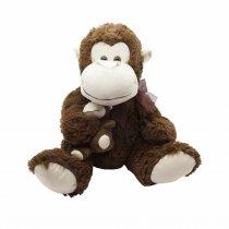 Mono con bebe de peluche 36 cm sentado