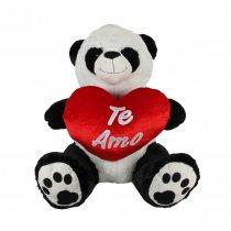 Oso panda grande con corazón 75 cm