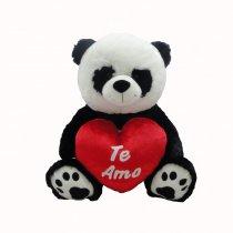 Oso panda con corazón 50 cm sentado