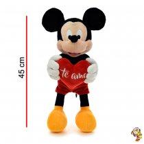 Mickey Mouse de peluche original con corazón 45CM