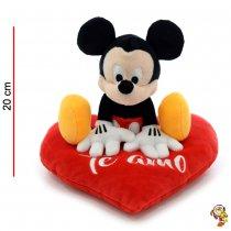 Mickey Mouse de peluche original sobre corazón 20CM