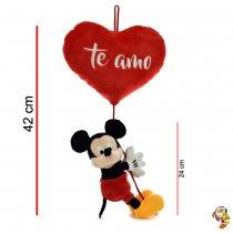 Mickey Mouse de peluche original colgando de un corazón 42CM total